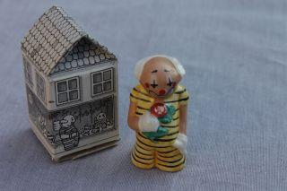 Goebel Clown Häuschen Unsere Kleine Stadt 1970 Ca.  5 Cm Bild