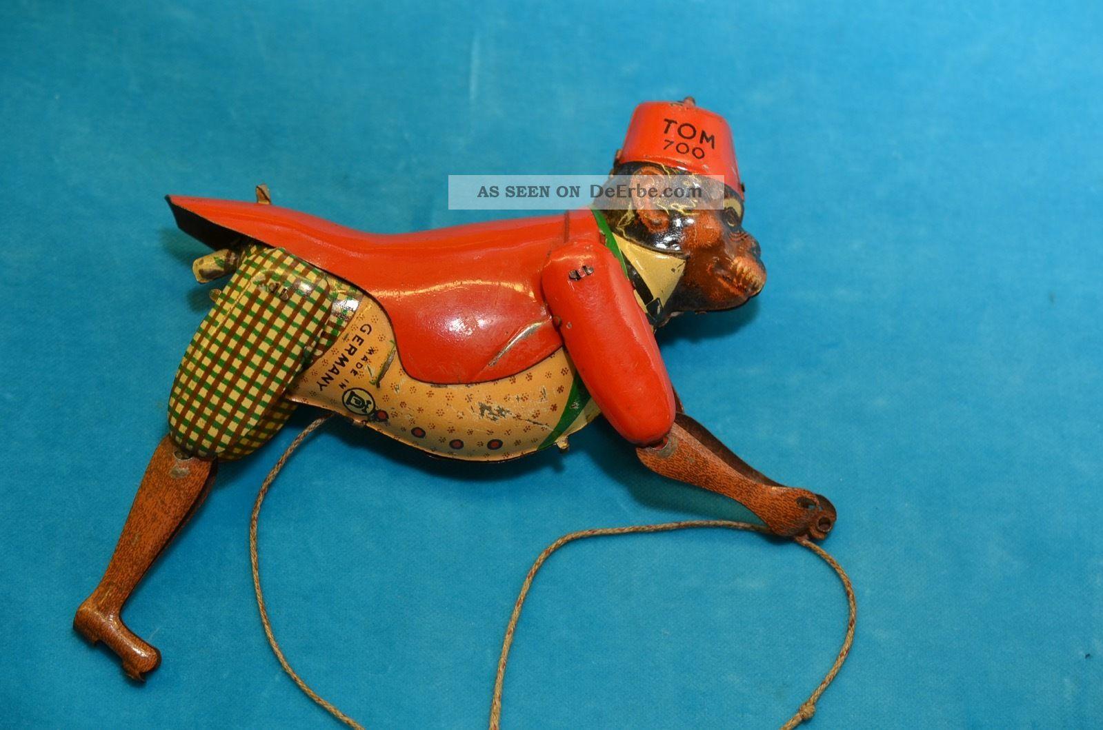 Altes Lehmann Blechspielzeug Tom 700 Kletteraffe Original, gefertigt vor 1945 Bild