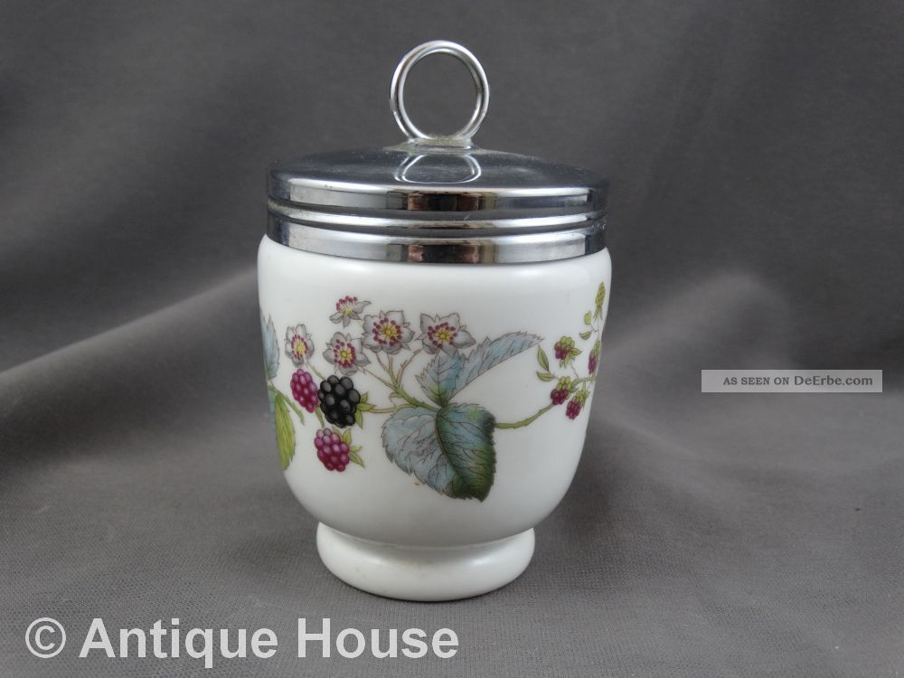 Royal Worchester Porcelain Egg Coddler England Brombeeren 10 Cm Nach Marke & Herkunft Bild