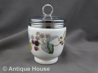 Royal Worchester Porcelain Egg Coddler England Brombeeren 10 Cm Bild