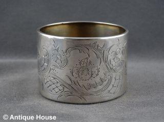 Silber 800 Alter Großer Serviettenring Rocaillien 25g Bild