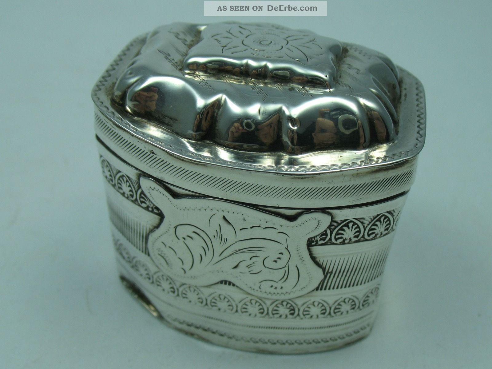 Rare Sehr Seltene Tabuiere Schnupftabakdose Um 1860 Aus Silber Objekte vor 1945 Bild