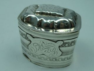 Rare Sehr Seltene Tabuiere Schnupftabakdose Um 1860 Aus Silber Bild