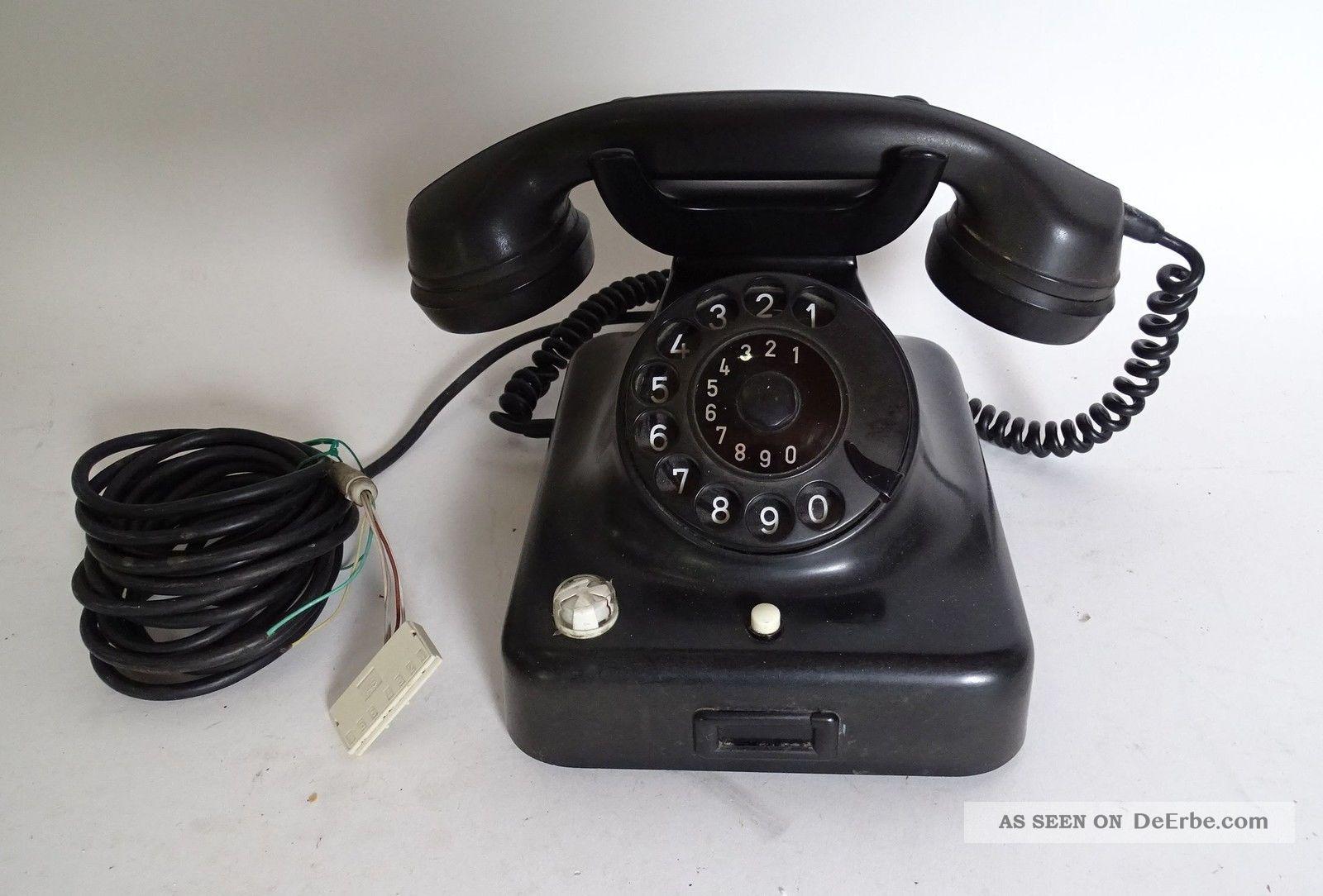 Rarität Bakelit Siemens & Halske Tisch Telefon Art Déco Wählscheibe 1920-1949, Art Déco Bild