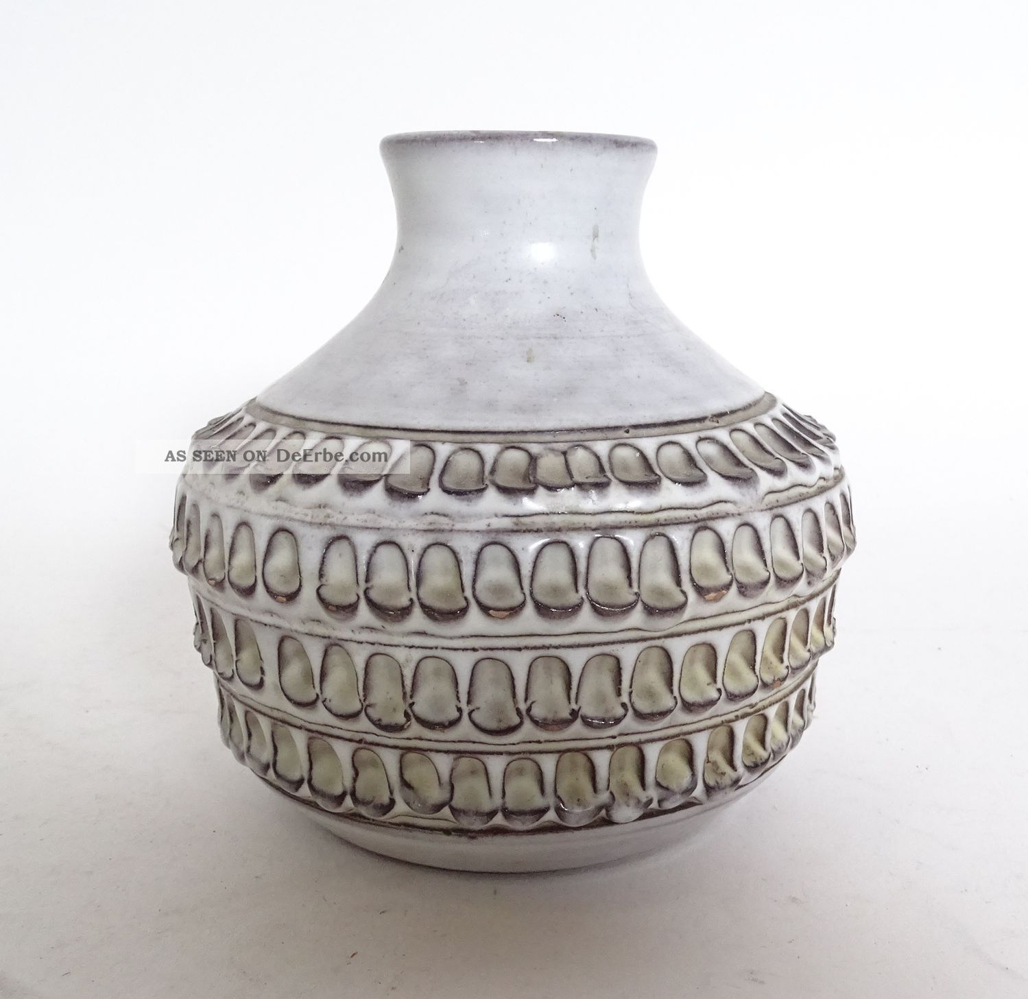 Handgearbeitete Studio Design Keramik Vase Signiert F.  S.  Nr.  855/12 1960-1969 Bild