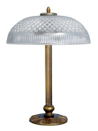 Wunderschöne Jugendstil Schreibtischlampe Tischleuchte Leuchte Messing Bild