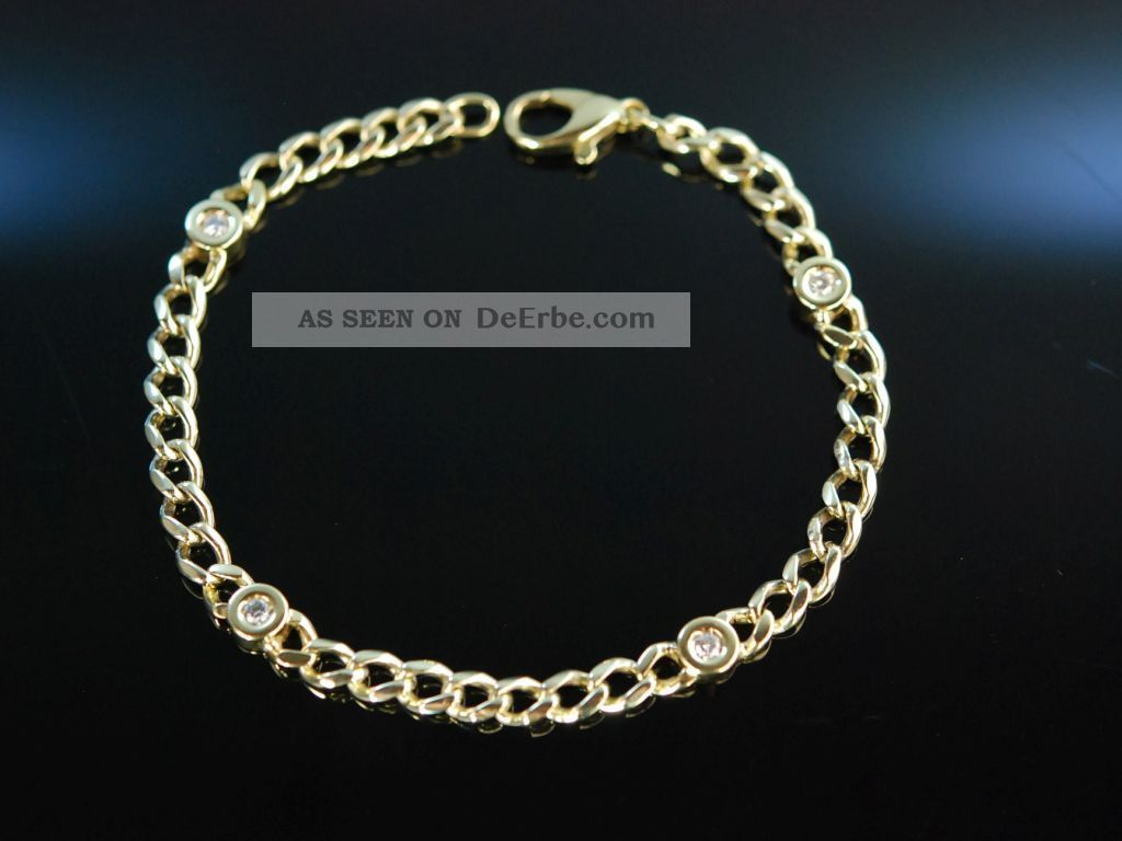 Classy Diamond Bracelet Hochwertiges Panzer Armband Gold 585 Brillanten 0,  4 Ct Schmuck & Accessoires Bild