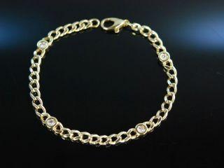 Classy Diamond Bracelet Hochwertiges Panzer Armband Gold 585 Brillanten 0,  4 Ct Bild