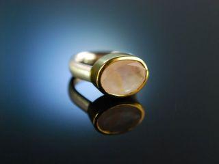 Zartes Rosa Moderner Ring Sterling Silber 925 Vergoldet Rosen Quarz Rose Quartz Bild