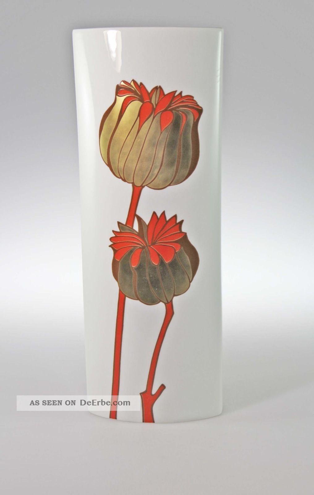Große Fürstenberg Vase 33 Cm Dekor 3462 70er Jahre Nach Marke & Herkunft Bild