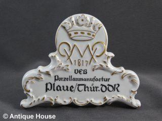 Werbeaufsteller Verkaufsaufsteller Plaue Porzellanmanufaktur Thüringen Ddr Veb Bild