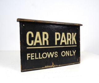 Antikes Holz Parkplatz Schild England Um 1930 Art Deco Straßenverkehr Bild