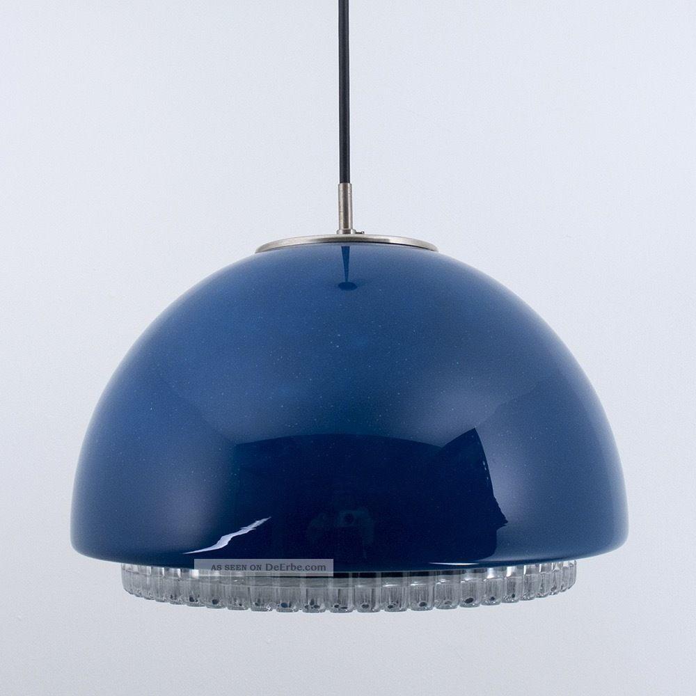 peill putzler glas leuchte space weltall pendellampe blau himmel vintage lampe. Black Bedroom Furniture Sets. Home Design Ideas