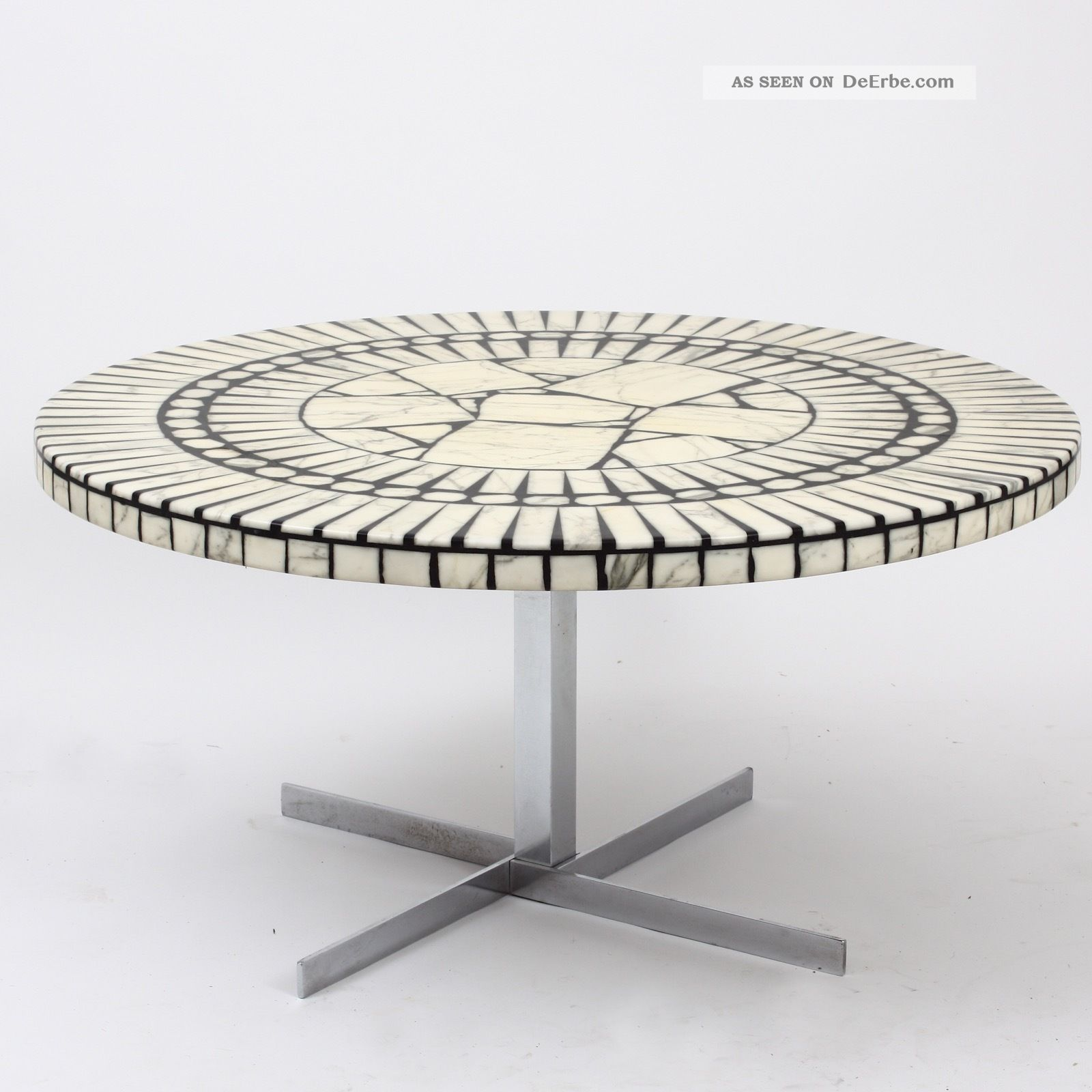 German Brutalism Coffee Table Heinz Lilienthal Knoll International Marmor Mosaik 1960-1969 Bild