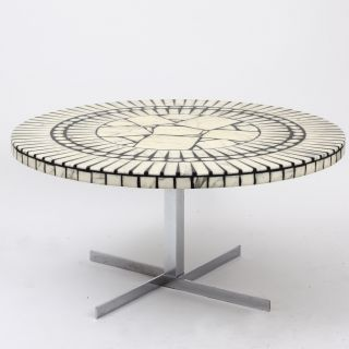 German Brutalism Coffee Table Heinz Lilienthal Knoll International Marmor Mosaik Bild