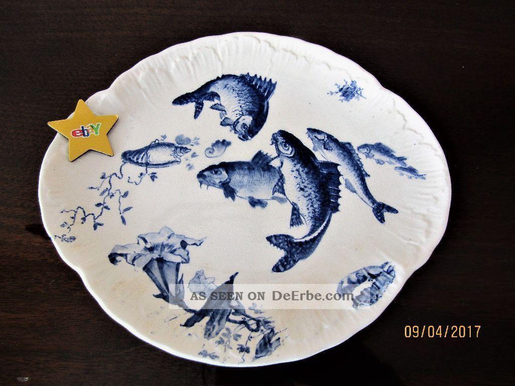 Villeroy&boch Serie Delphin Fischteller Mettlach Um 1900 Nach Marke & Herkunft Bild