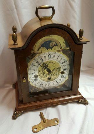 Westminster,  Tischuhr,  Kaminuhr,  Bracket Clock,  Sammleruhren,  Mondphase Bild