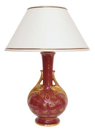 Sehr Elegante Landhaus Jugendstil Salon Tischlampe Keramik Bild