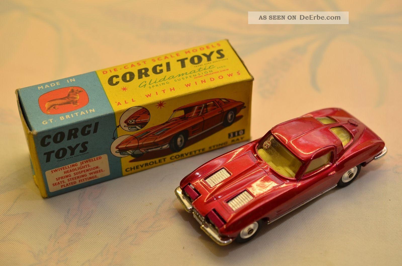Sammlerstück Corgi Toys 310 Chevrolet Corvette Sting Ray Fahrzeuge Bild