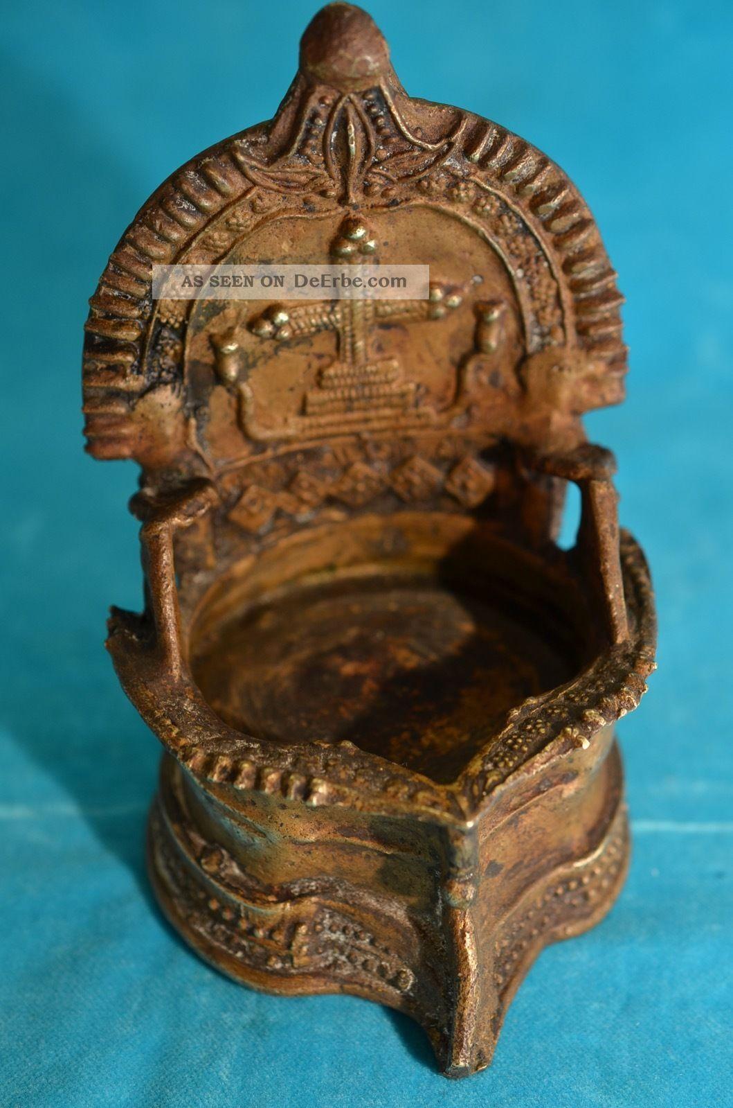 Antikes Bronze Weihbecken Weihwasserkessel Um 1900 Bronze Bild