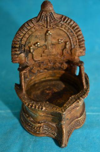 Antikes Bronze Weihbecken Weihwasserkessel Um 1900 Bild
