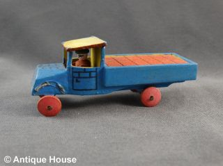 Erzgebirge Seiffen Alter Miniatur Lastwagen Lkw Transporter Ladung Steine Backst Bild