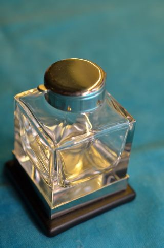 Altes Schönes Glas - Tintenfass Sammlerstück Bild