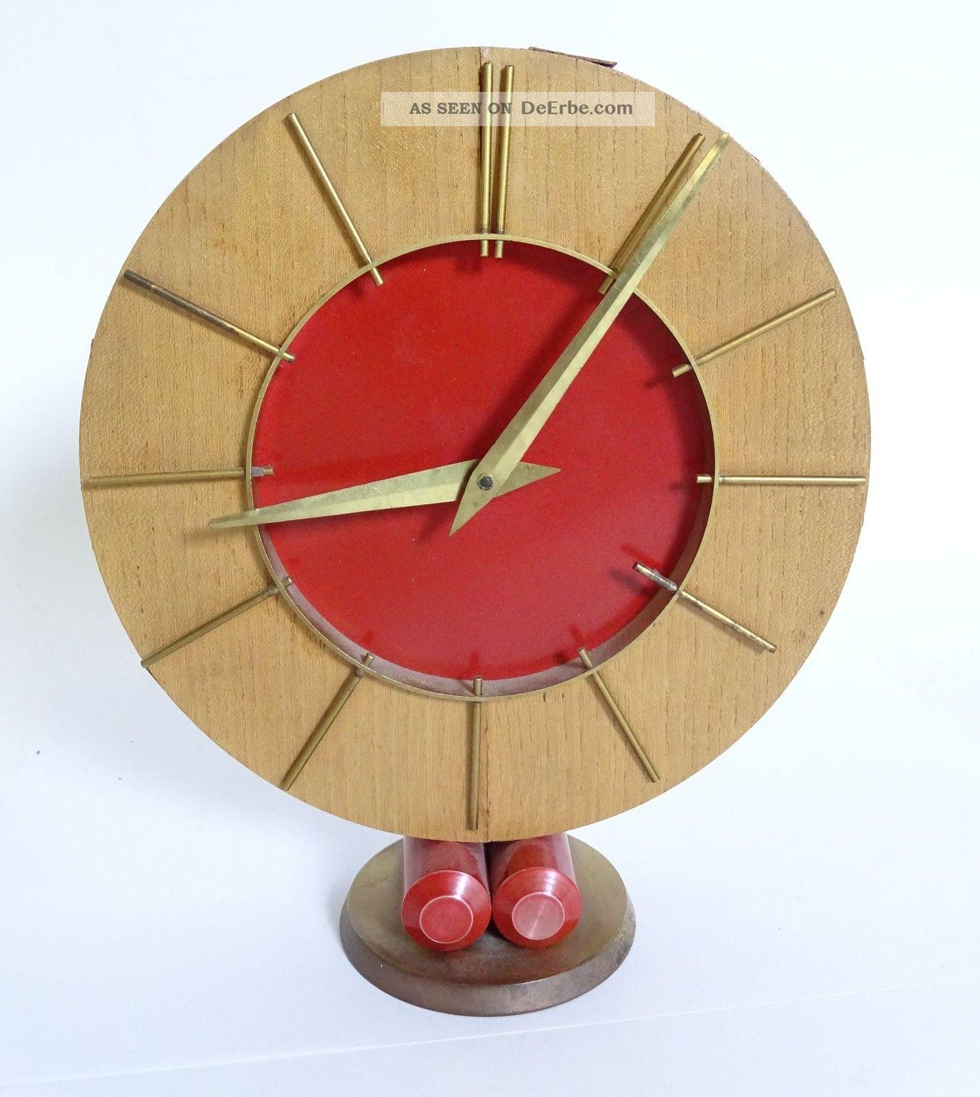 Art Déco 8 Tage Uhrwerk Automatik Tobias Baeuerle & Soehne Schwarzwald Tischuhr Antike Originale vor 1950 Bild