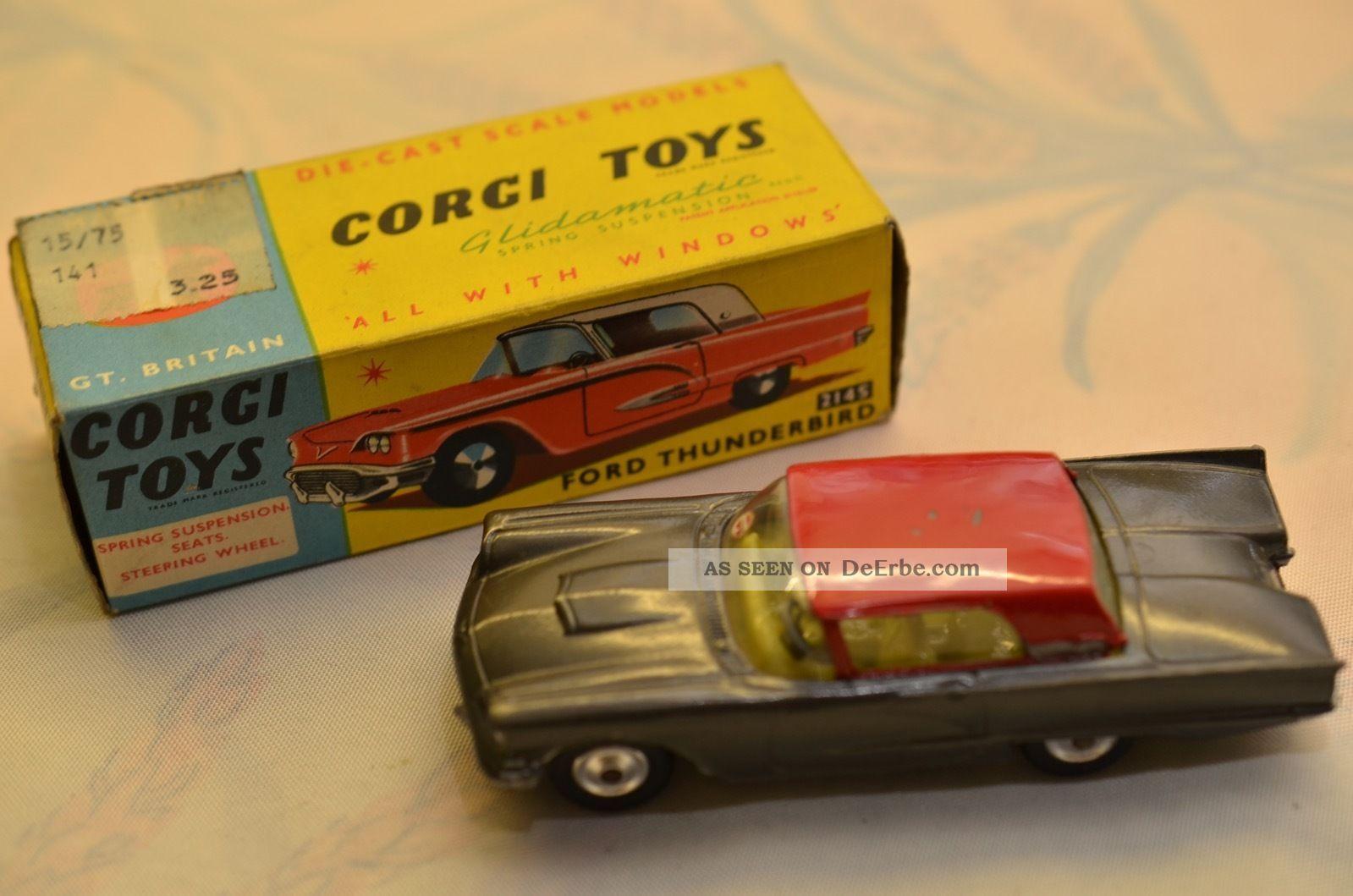 Sammlerstück Corgi Toys 214s Ford Thunderbird Fahrzeuge Bild