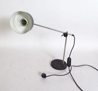 Panton Ära 70er Jahre Gelenkarm Schreibtisch Lampe Schwarz Chromoptik Bild