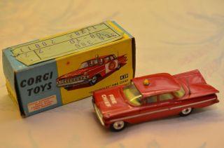 Sammlerstück Corgi Toys 439 Chevrolet Fire Chief Bild