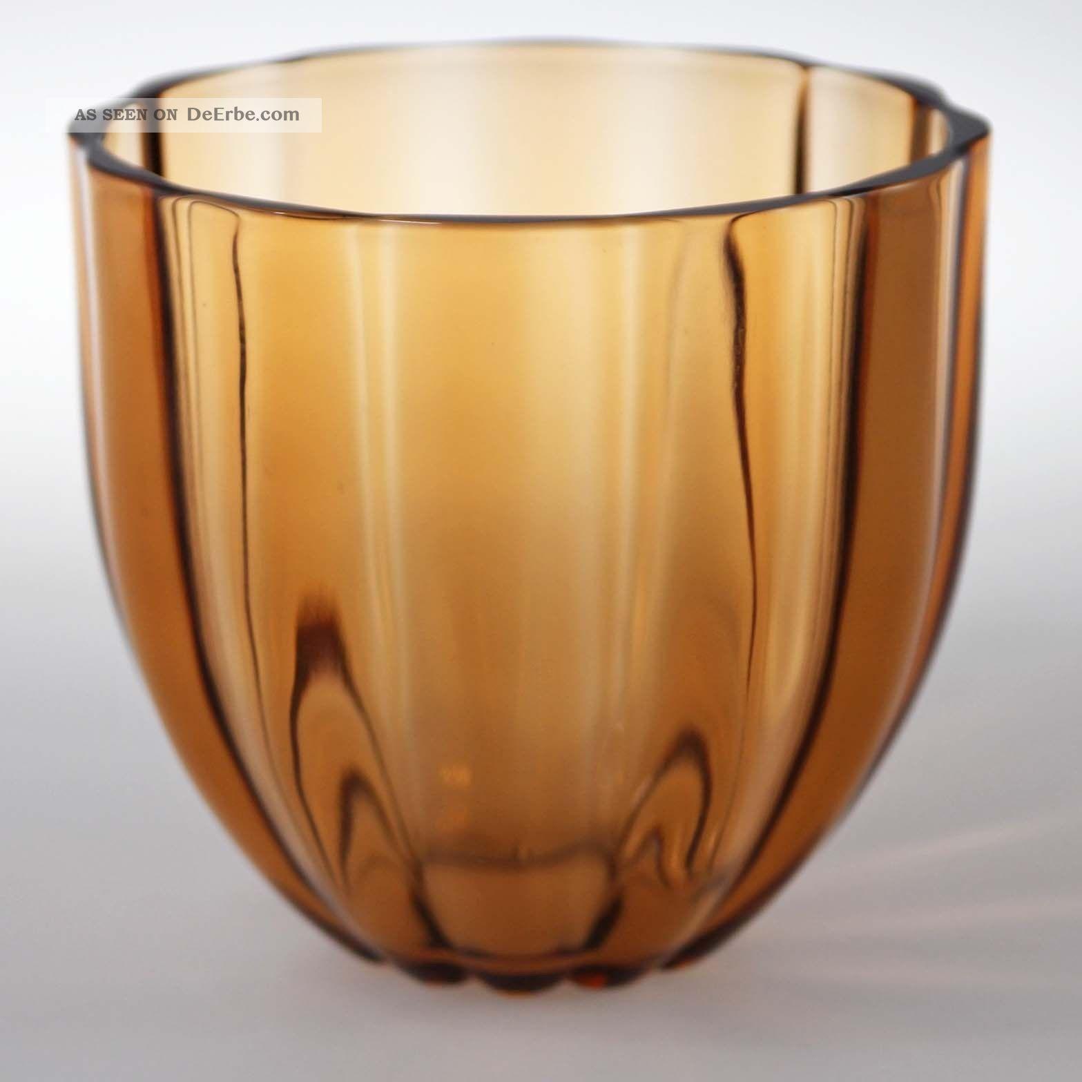 Wilhelm Wagenfeld Vlg Glas Vase Wvz 97 Rautenmarke 1920-1949, Art Déco Bild