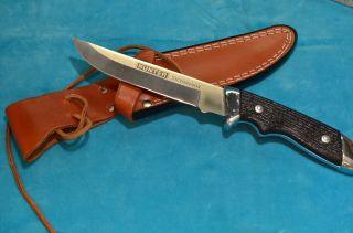 Hunter Victorinox Jagdmesser Mit Lederscheide Bild