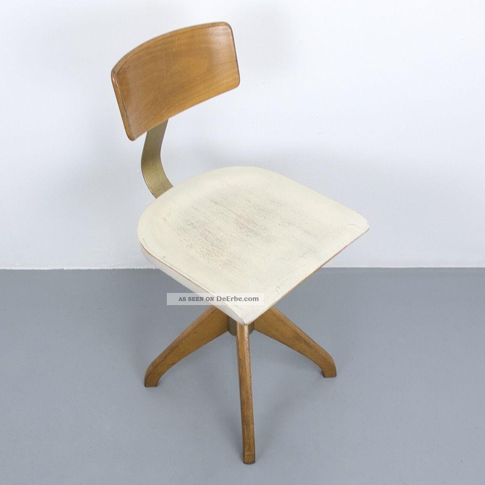 werkstatt b ro stuhl weiss ama elastik 364 architektenstuhl industrie vintage. Black Bedroom Furniture Sets. Home Design Ideas