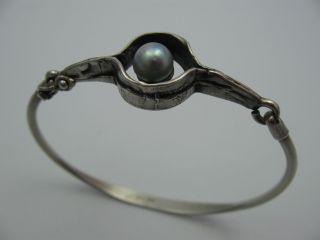 Perli Wunderschöne Designer Armspange Mit Perle Aus 925 Sterling Silber Bild