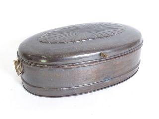 Antike Große Jugendstil Brot Dose Vorratsdose Brotschachtel Blechdose Bild
