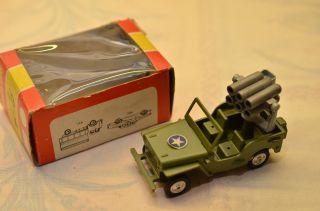 Sammlerstück Gama Minimod Jeep Mit Granatwerfer Bild