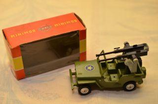Sammlerstück Gama Minimod Jeep Mit Maschinengewehr Bild