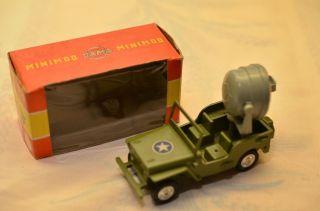 Sammlerstück Gama Minimod Jeep Mit Suchscheinwerfer Bild