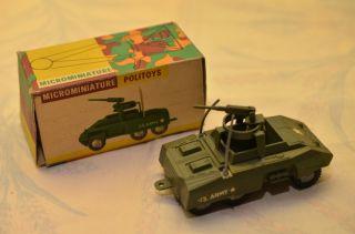 Sammlerstück Politoys Microminiature Nr.  17 Kampf Panzerwagen Bild