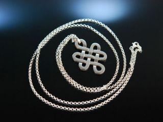 Eternity Knot Pendant Endlos Knoten AnhÄnger Mit Kette Cada Sterling Silber 925 Bild