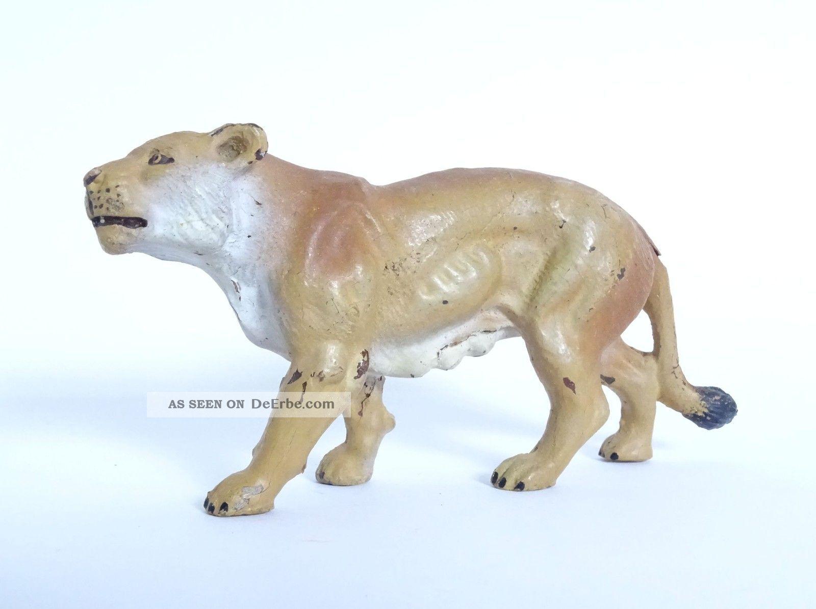 Antike Elastolin Lineol Löwe Löwin Raub Tier Figur Massefigur Rarität Elastolin & Lineol Bild