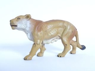 Antike Elastolin Lineol Löwe Löwin Raub Tier Figur Massefigur Rarität Bild