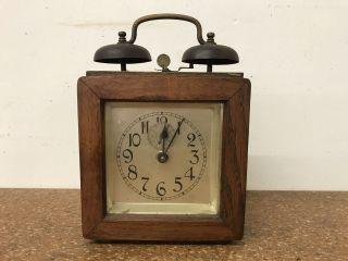 Antiker Wecker Uhr Tischuhr - Um 1900 Bild