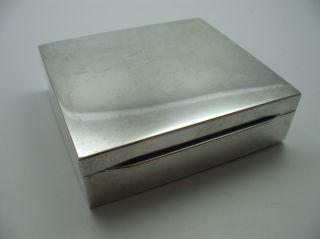 Schöne Alte Unverbeulte Zigarettendose Aus 835 Silber Bild