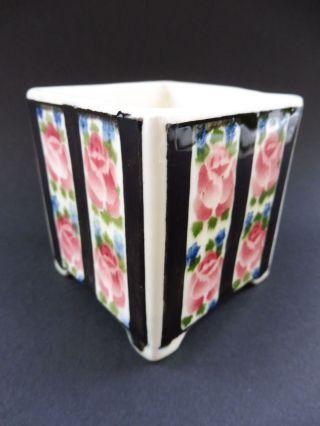 :: Wiener Jugendstil Keramik Rose Kaktus Cachepot Übertopf Art Nouveau Cactus :: Bild
