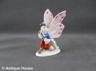 Thüringen ältere Porzellanfigur Schmetterlingskind Junge Mit Gehstock Modell 747 Bild