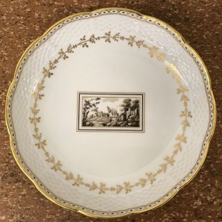 Italienischer Porzellan Teller Andenken - Richard Ginori Florence - Mod.  Feisole Bild