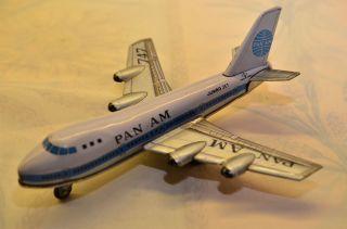 Sammlerstück Pan Am Blechflugzeug Schwungradantrieb Made In Japan 60er Jahre Bild