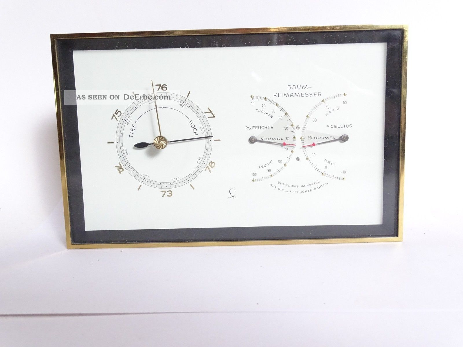 50 Jahre Rarität Seltener Lufft Raummesser Thermo Hygro Und Barometer Mollenkopf Wettergeräte Bild